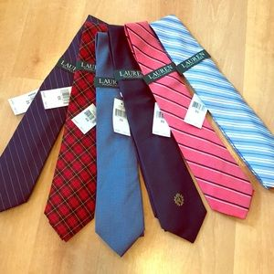 NWT Ralph Lauren Tie Set (5 Total) 👔 Father's Day